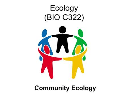 Ecology (BIO C322) Community Ecology. Habitat and Niche Habitat = The place where an organism lives. Ecological niche = Physical space + Organism's functional.