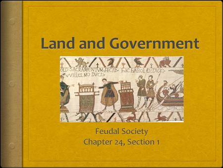 Feudal Society  Feudalism was a political system that came about around 800 A.D.  Political power was based on land ownership  tradition started when.