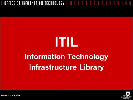 ITIL - IT Service Management