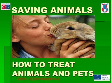 SAVING ANIMALS SAVING ANIMALS HOW TO TREAT ANIMALS AND PETS 2010-1-DE3-COM06-11105-6.