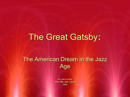 jazz music in the great gatsby essay Here is the example of essay resistance to changes are explored creating a jazz age portrait which is is the american dream in the great gatsby reflective.