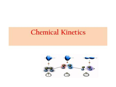 Chemical Kinetics. The branch of Physical chemistry which deals with the rate of reactions is called chemical kinetics. The study of chemical kinetics.