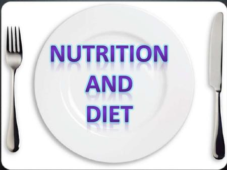 Q ) Create a circle map including everything you know about Nutrition and Diet.