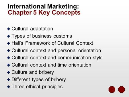 International marketing an important concept for businesses