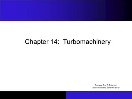 Chapter 14: Turbomachinery