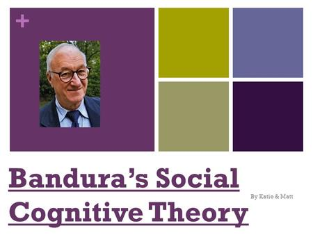 + Bandura's Social Cognitive Theory By Katie & Matt.
