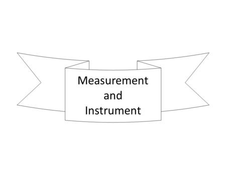 Measurement and Instrument. Ohm Meter -Equivalent Circuit-