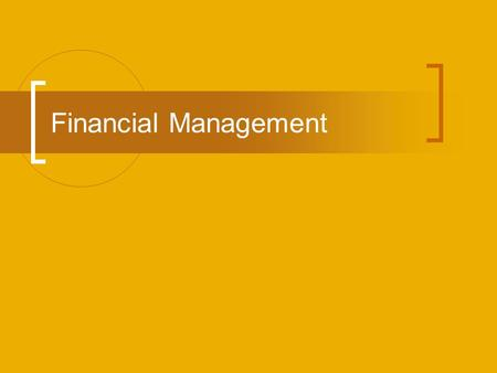 Financial Management. Purpose of Financial Reports Financial Reports – Summarize financial data over a given period of time (shows if the company made.