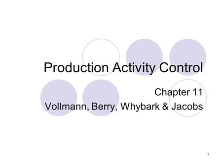 jacobs manufacturing planning and control pdf