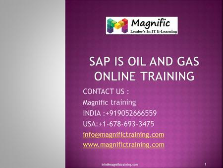 CONTACT US : Magnific training INDIA :+919052666559 USA:+1-678-693-3475  1