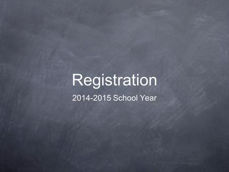 Registration 2014-2015 School Year. Registration Events Friday, February 28 th : Homeroom— Go over credit requirements, transcripts, new course offerings,