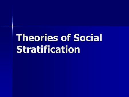 the functionalist theory of stratification is Functional and conflict theories of educational stratification  functional theory of stratification (davis and moore, 1945) rests on the premises (a).