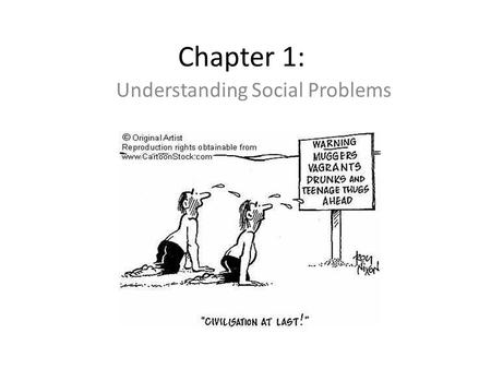 Chapter 1: Understanding Social Problems. Personal vs. Social Problems Personal problems are explained in terms of qualities of the individual who has.