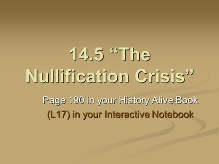 jackson vs calhoun and the nullification crisis essay Why nullification three arguments you are here: home  in this essay,  this country will be exposed to an existential crisis, a black swan.