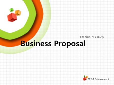 Fashion N Beauty Business Proposal.