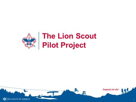 1 The Lion Scout Pilot Project. Lion Scout Pilot Lions is a pilot program of the Boy Scouts of America for Kindergarten-age boys It is currently an approved.