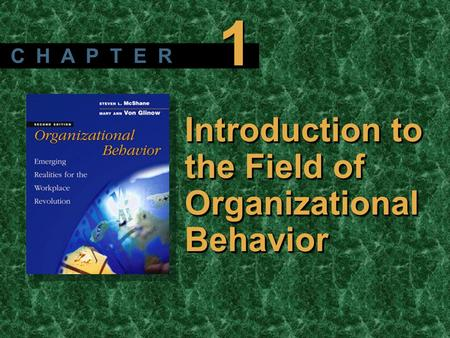 Copyright © 2003 by The McGraw-Hill Companies, Inc. All rights reserved. McShane/ Von Glinow 2/e Introduction to the Field of Organizational Behavior C.