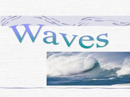 Wave Definition: A disturbance that transfers energy from place to place. A medium, a medium is the material through which a wave travels. A medium can.