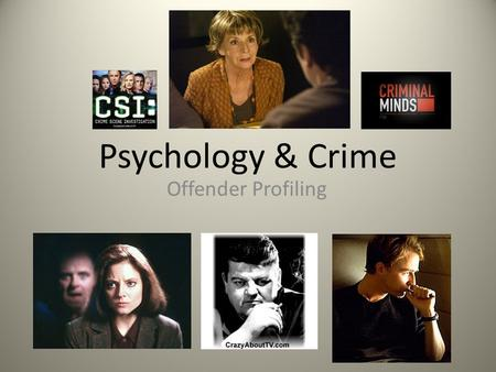 Psychology & Crime Offender Profiling. Recap: HISTORY OF PROFILING YearProfilerSubject of Profile 1888Dr Thomas Bond (police surgeon) Jack the Ripper.