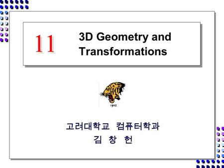 3D Geometry and Transformations