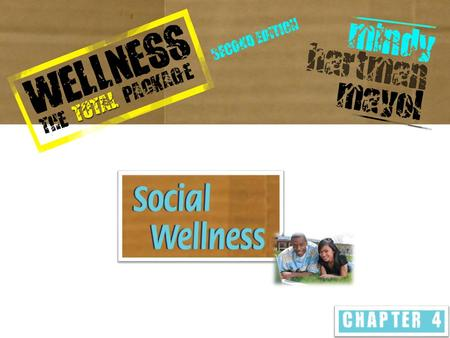 WHAT IS SOCIAL WELLNESS? Contribution you make to your surroundings and community by becoming more aware of your importance in society and the impact.