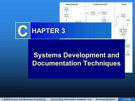 © 2008 Prentice Hall Business Publishing Accounting Information Systems, 11/e Romney/Steinbart1 of 136 C HAPTER 3 Systems Development and Documentation.