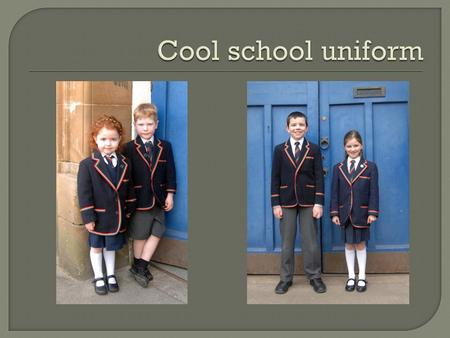 " ""A school uniform is an outfit—a set of standardized clothes—worn primarily for an educational institution. They are common in primary and secondary."