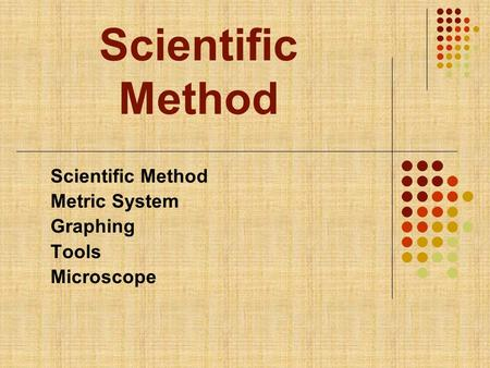 microscopy and the metric system Start studying metric measurement and microscopy - lab 1 learn vocabulary, terms, and more with flashcards, games, and other study tools.