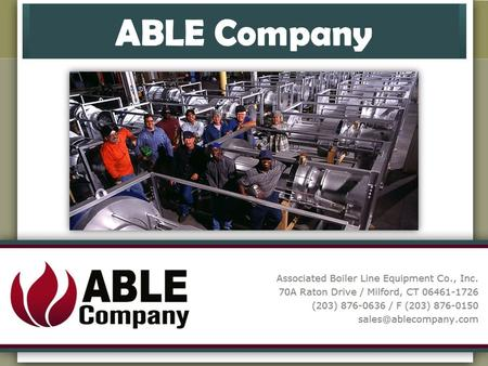 The ABLE CompanyThe ABLE Company is a full service power plant equipment, instrumentation and control system specialist that has been providing dependable.