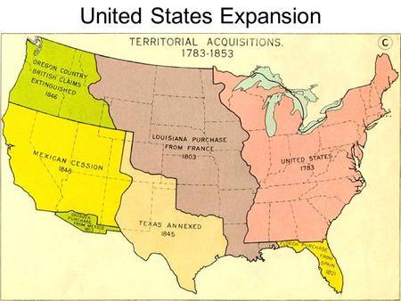 United States Expansion. Another View of Expansion.