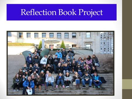 Reflection Book Project. Reflection Book 3 rd Term Project: English 9 1.Only I will view your project, so feel free to be candid. 2.You will use PowerPoint.