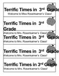 Terrific Times in 3 rd Grade Welcome to Miss Rosenkaimer's Class! Terrific Times in 3 rd Grade Welcome to Mrs. Rosenkaimer's Class! Terrific Times in 3.