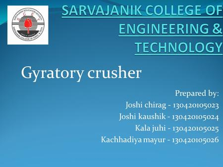 SARVAJANIK COLLEGE OF ENGINEERING & TECHNOLOGY