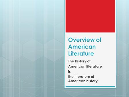 """an overview of the american literary The asian american literary review, fort washington, maryland 26k likes  aalr is a space for writers who consider the designation """"asian american"""" a."""