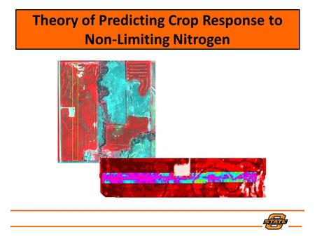 Theory of Predicting Crop Response to Non-Limiting Nitrogen.