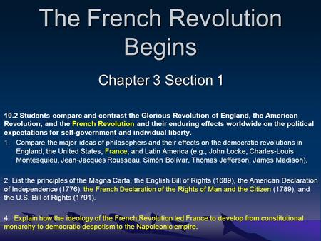 american revolution compare contrast french revolution Compare and contrast the american and french revolutions these should include the role of the bourgeoisie/capitalist middle class, the difference in geography.