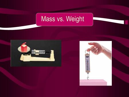 Mass vs. Weight. Look at this figure. Look at this figure. The mass of the bowling ball does not change, but the mass of the puppy does. How? Where does.