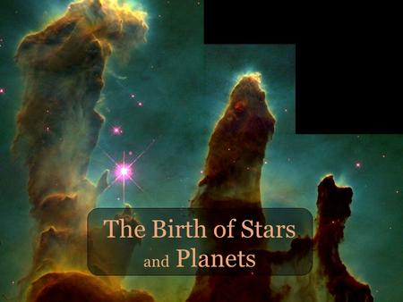 The Birth of Stars and Planets. Plan for the next ~45 min How do we learn about star formation? What can you see with your very own eyes or through our.
