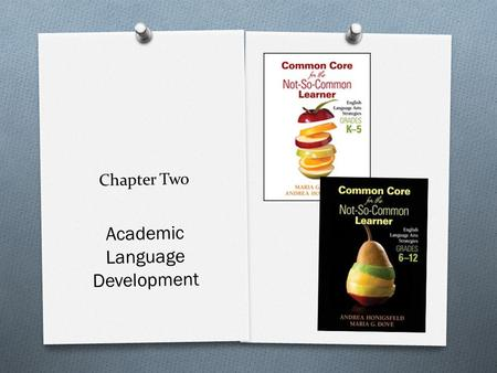 Chapter Two Academic Language Development. Today's Agenda  Gather, Greet, Eat, and Network  Let's Review: Essential Questions  Toward a Common Definition.