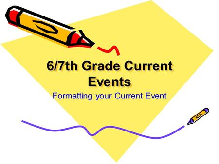 6/7th Grade Current Events