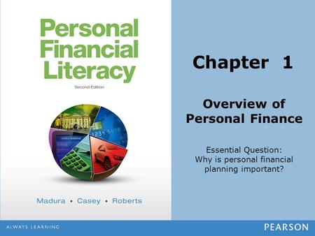 Overview of Personal Finance Essential Question: Why is personal financial planning important? Chapter 1.