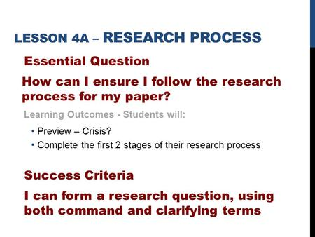 research paper essential question lesson plan Middle school lesson plan: make every cent count  essential question 3 ( social studies/history): how have currencies changed throughout time, and how .
