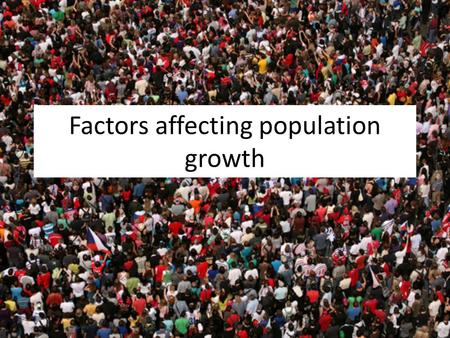 Factors affecting population growth. Population structure A population pyramid is a type of bar graph used to show age and gender structure of a country,