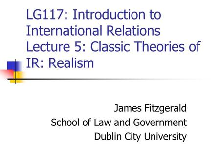 James Fitzgerald School of Law and Government Dublin City University