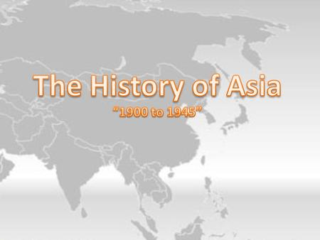 Asia & World War I Japan: in 1914 joined Allies captured German colonies in Pacific and lands in China Outcome: increased imperialism & militarism India.