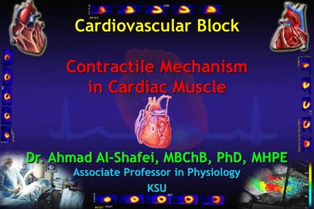 Cardiovascular Block Contractile Mechanism in Cardiac Muscle.