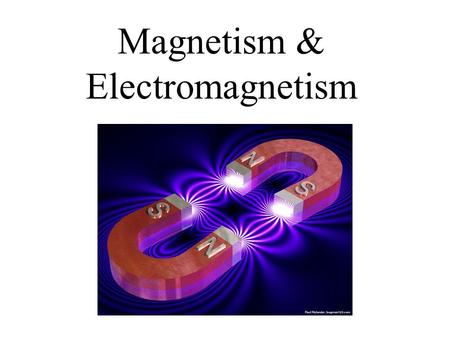 "Magnetism & Electromagnetism. Magnets A special stone first discovered < 2,000 years ago in Greece, in a region called ""Magnesia,"" attracted iron, they."