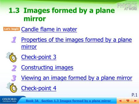1.3 Images formed by a plane mirror