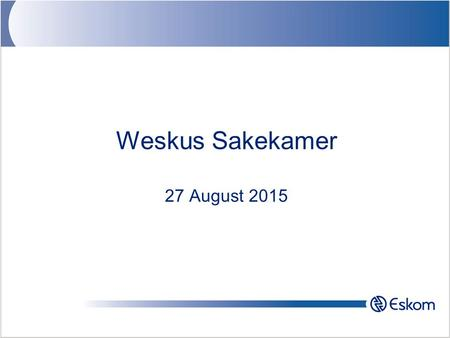 Weskus Sakekamer 27 August 2015. 2016/06/242 Contents History –Use of Electricity –Eskom Renewables –Targets –REFIT –Resource Potential Wind Solar –Contributions.