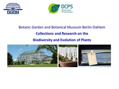 Botanic Garden and Botanical Museum Berlin-Dahlem Collections and Research on the Biodiversity and Evolution of Plants.